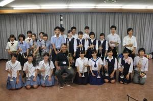 クラリネット参加生徒46名 講師湯本剛治氏