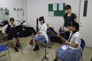 ファゴット参加生徒3名講師湯本真知子氏