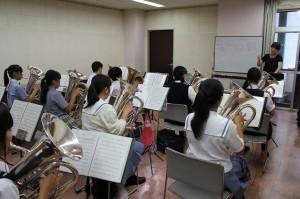 ユ-フォニウム参加生徒11名講師吉田えり氏